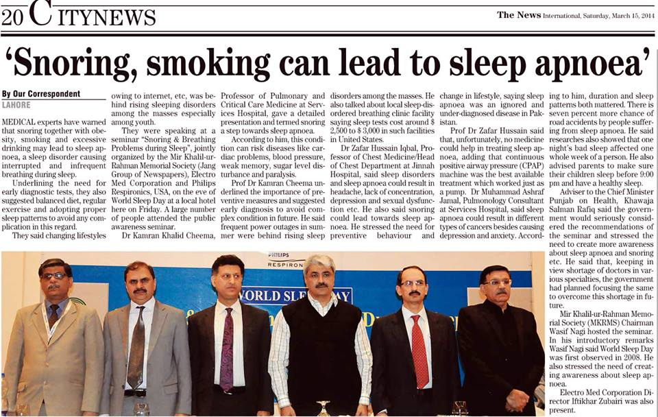 'Snoring, smoking can lead to sleep apnoea'