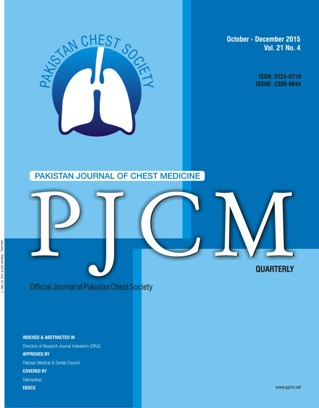 The official journal of Pakistan Chest Society