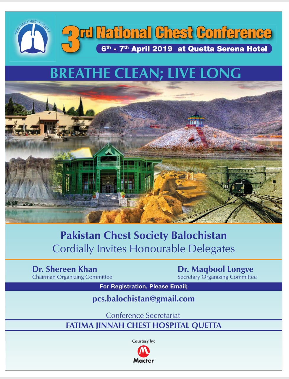 3rd National Chest Conference 6th – 7th April 2019 at Quetta Serena Hotel